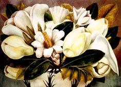 1945 Frida Kahlo Magnolias, Huile sur masonite, 41x57 cm. #Art #Mexico #deFharo