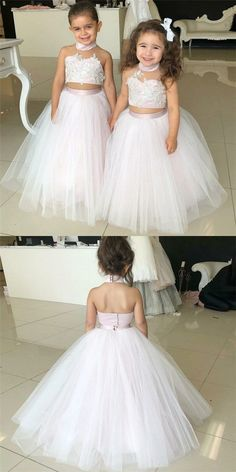 1e59af860e0 Cheap Flower Girls Dresses Tulle Lace Top Spaghetti Formal Kids Wear For Party  2016 Free Shipping Toddler Gowns