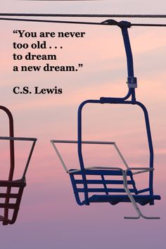 """""""You are never too old to set another goal or to dream a new dream."""" – C.S. Lewis – Image of chairlifts at Seaside Heights, New Jersey, taken by Dr. Joseph T. McGinn – Explore a unique collection of quotes on wanderlust at http://www.examiner.com/article/memorable-travel-quotes-on-wanderlust  and on the Pinterest board,Wanderlust Quotes at http://pinterest.com/fmcginn/wanderlust-quotes/"""