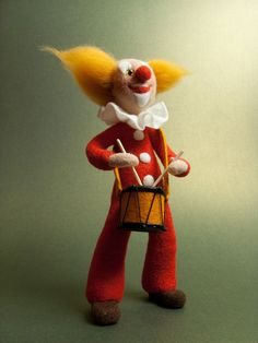 Needle felted clown