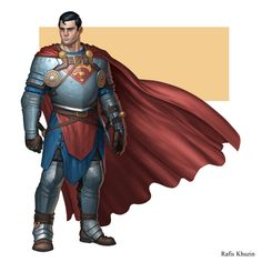Artfully Kal (The Art Of Superman And DC Comics) — Superman and Batman by Rafis Khuzin. Comic Book Characters, Comic Character, Comic Books Art, Comic Art, Marvel Dc, Batman Redesign, Dc Comics, Superman Family, Superman Man Of Steel