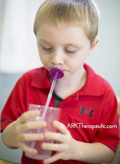 ARK Therapeutic: Using Lip Bloks to Decrease Tongue Protrusion. Pinned by SOS Inc. Resources. Follow all our boards at pinterest.com/sostherapy/ for therapy resources.