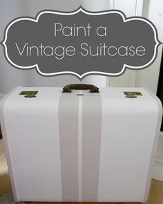 Back in the spring, I found an inexpensive vintage suitcase at a local antique shop. I brought it home, cleaned it up and painted it white. I wanted to add stripes and decided on green. I marked off my stripes with my blue brand painter's tape and painted the stripes with a green acrylic paint. …