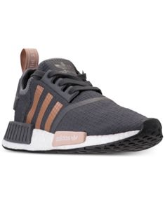 aef1c1f15266 adidas Women s Nmd R1 Casual Sneakers from Finish Line - Gray 5.5