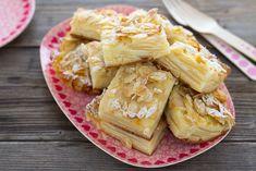 Quadrotti di mele e mandorle. Recipe apple cake