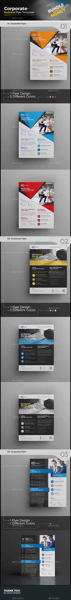 3 Corporate Flyer Bundle Templates PSD. Download here: http://graphicriver.net/item/corporate-flyer-bundle-3-in-1-/16046195?ref=ksioks