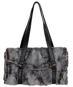 367824f817d6 Madrid Style Handbag - Luxury Faux Fur in Giant s Causeway - Giant s  Causeway - Handbag -