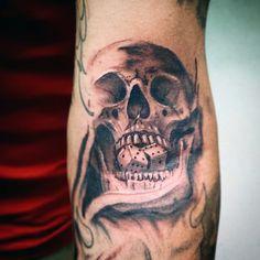 101 Badass Tattoos For Men 2018 Badass Skull Tattoos For Guys Armbeugen Tattoos, Tattoos Arm Mann, Skull Tattoos, Body Art Tattoos, Sleeve Tattoos, Mens Tattoos, Tattoos For Guys Badass, Best Tattoos For Women, Popular Tattoos