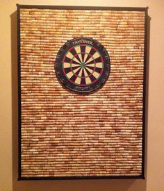 DIY: Wine Cork Dart Board made by my friends, the Padgett's :-)