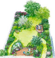Backyard Garden Design Layout Over 65 Fashion Ideas Garden Design Plans, Backyard Garden Design, Small Garden Design, Garden Landscape Design, Landscape Plans, Small Garden Layout, Garden Layouts, Yard Design, Backyard Layout