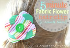 Fabric Flower Silhouette Tutorial...ADORABLE!