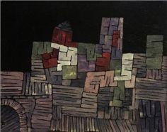 Paul KLee 'Altes Gemäuer, Sizilien' (Old Buildings,Sicily) 1924 Gouache 22 x…