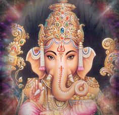Ganesha: removed of obstacles/the face of benevolent laughing love, warmth, and father-figure to his followers