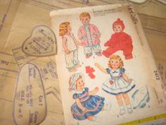 "ORIGINAL Doll Clothes PATTERN 2412 Tiny Tears Dydee Betsy Wetsy size 23"" to 25"" #McCalls"