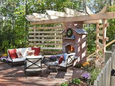 After: Fireside Lounge - 15 Before-and-After Backyard Transformations on HGTV