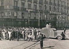 Carro de asalto saliendo del Cuartel de Pontejos, Portal Fuenterrebollo