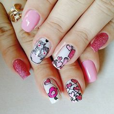 #meurabisco#unhasdasemana #cute#nail#unhasdeprincesa