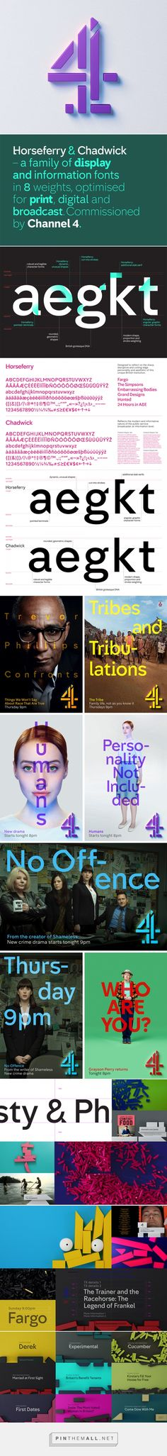 Brand New: New Identity and On-air Package for Channel 4 led by 4creative - created via http://pinthemall.net