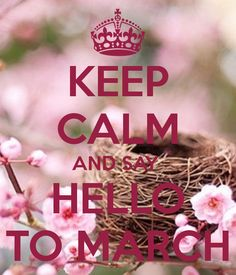 KEEP CALM AND SAY  HELLO TO MARCH