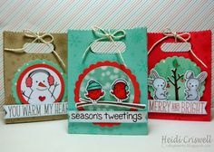 Crafty Time 4U goodie bags for Holiday Craft Series 2014 using #LawnFawn products