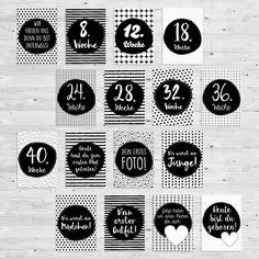 Liebevolle gestaltetes Kartenset:  ** Milestone Pregnancy Cards - 16 Karten im Set!  **  Mit den 16 illustrierten Milestone Pregnancy Cards könnt ihr besondere Momente während der...