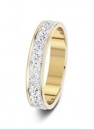 4mm two-tone 2 row sparkle cut wedding ring