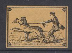 OLD MATCHBOX LABEL BOX SIZE SWEDEN DOGS & MAN in | eBay