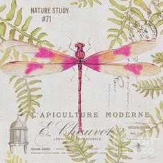 Botanical Dragonfly-jp3426 Print By Jean Plout