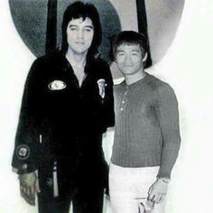 ELVIS & BRUCE LEE. The Art of Photoshop. They never met. FAKE. MYTH!