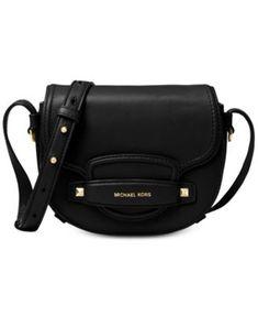 bf12e58cf605 Michael Kors Leather Saddle Crossbody & Reviews - Handbags & Accessories -  Macy's