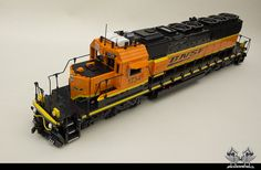 Lately, I've been getting into LEGO trains more and more. Check out this LEGO BNSF. Look at it again. Go ahead. It's huge! From A LEGO A Day