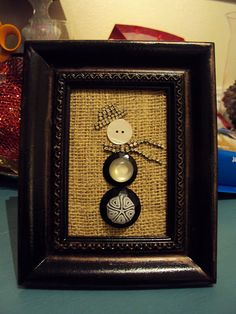 Never would have thought of this!  Using old costume jewelry and buttons to make art :)