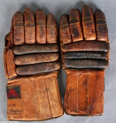 old hockey gloves - Google Search