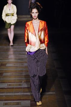 The pants with a Japanese print for the Jacket.  Dries Van Noten Spring 2006 // photo by marcio madeira