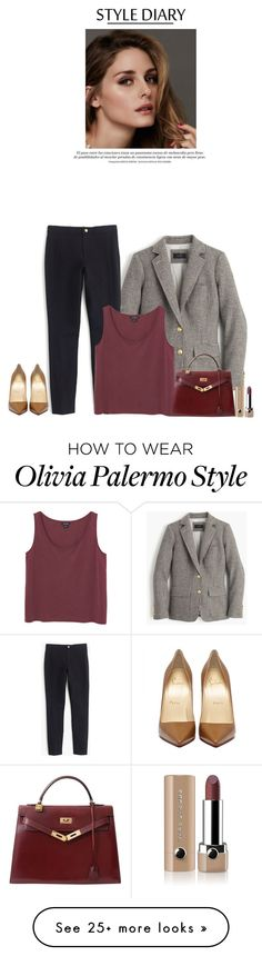 """""""Untitled #2972"""" by xoxosarahleigh on Polyvore featuring J.Crew, Monki, Beauty Secrets, Hermès, Marc Jacobs, WorkWear, christianlouboutin and hermes"""