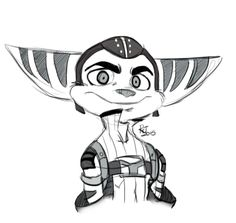 rinajolin: Because Ratchet and Clank is a very nice game.^^ So here's a little sketch.