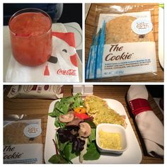 Delta Airlines First Class Lax San Antonio Meal Salmon