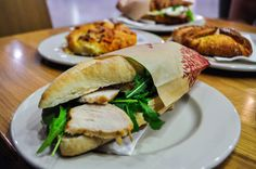 Hydinovy sendvic z Ankera - Poultry sandwich from Anker Best Bratislava (Slovakia) Restaurants Bratislava Slovakia, Poultry, Sandwiches, Meat, Chicken, Ethnic Recipes, Restaurants, Food, Anchor