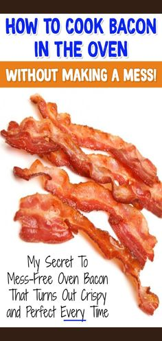 how to cook bacon without stove
