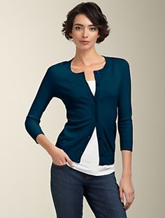 Talbots has a NAVY BLUE Cardi..a must have in any wardrobe since they are rarely in stores..pick one up..I DID!! Also got one in green!!