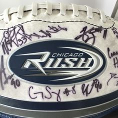 Chicago Rush Autographed Football Arena Football League Autographs AFL #FotoballSports #ChicagoRush #football #afl #arenaleague #autographs