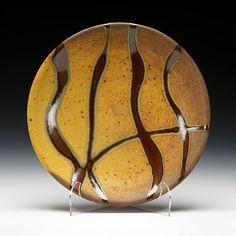 "Stunning glazes.  ""Dinner Plate"" by Randy Johnston."