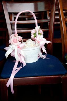 896f24c016 Personalized Rustic Chic Flower Girl Basket Paper Roses Baby s ...