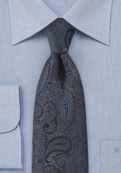 XXL-Krawatte Paisleymuster dunkelbraun günstig kaufen