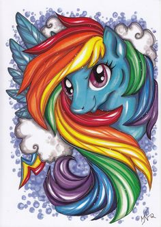 Rainbow Dash My little pony Friendship is Magic by ArtByKattvalk, kr80.00