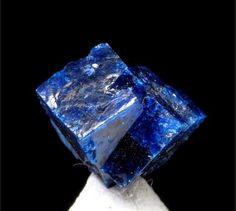 Boleite Amelia Mine, Boleo District, Baja California Sur, Mexico 8mm x 7mm x 5mm Cluster of two, well formed crystals of rare boleite.