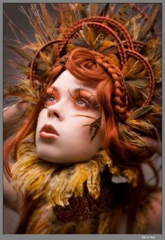 It was autumn, and the leaves began to wither and fall. Trees hung gloomily, feeling sorry for themselves. She decided the curse would not happen to her, so she pulled up her roots, reached for the sun, and molded herself into a woman.