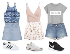 """""""✔️"""" by mila-godding ❤ liked on Polyvore featuring MANGO, RED Valentino, AG Adriano Goldschmied, J Brand, adidas, Converse and NIKE"""