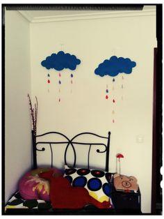Nubes y lluvia con fieltro