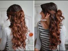 This is a great hairstyle for summer. Takes only a few minutes , especially if your natural hair is already wavy or curly.  For this hairstyle I have used:   - Luxy Clip-Hair Extensions - http://www.luxyhair.com (Chocolate Brown #4 - 160 g)   - Aveda Brilliant Medium Hold Hair Spray  - Hair elastic  - Cortex Curler - 1 1/4      COMMENT RULES: We do not...